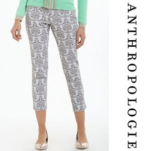 Anthropologie Brocade Charlie Trousers 4 Grey